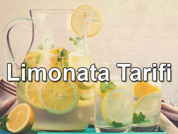 Limonata Tarifi Limonata nasıl yapılır