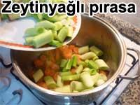 Zeytinyağlı pırasa tarifi