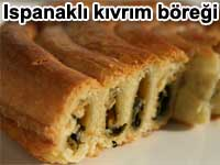 Ispanaklı kıvrım böreği tarifi