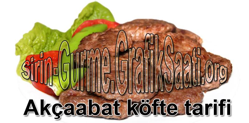 Akçaabat köftesi nasıl yapılır tarifi Akcabat köfte tarifleri Akçabat köfte